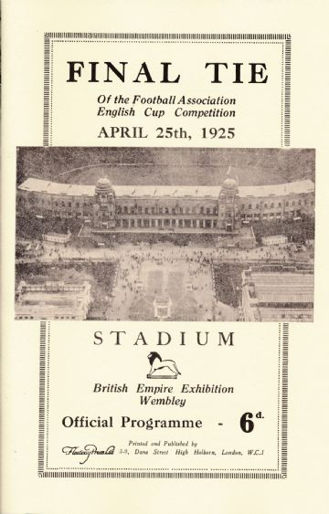 1925 FA CUP FINAL Sheffield  United  v Cardiff City - Full replica match programme